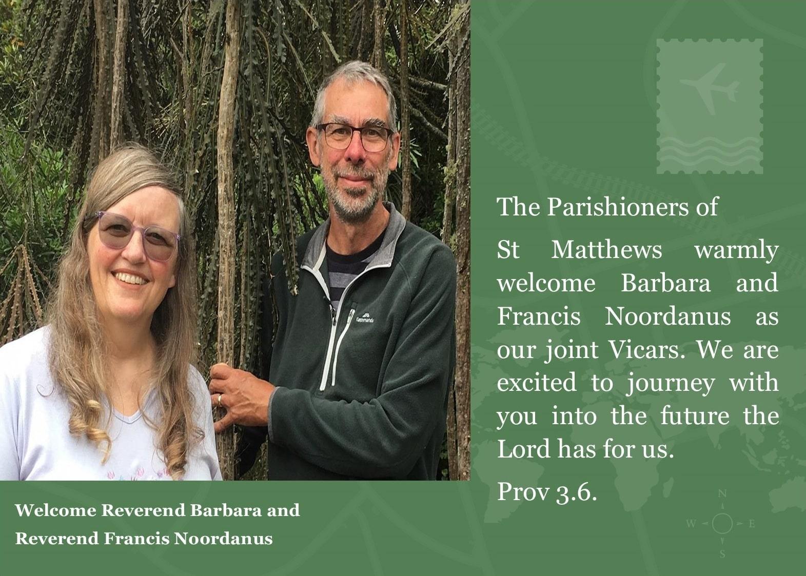 Reverands Barbara and Francis Noordanus